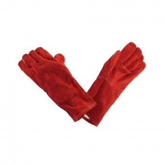 Luvas em Crute Vermelho 35 cm
