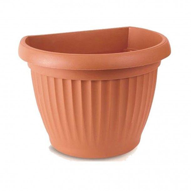 Vaso para Parede de Plástico Terracota - 18 cm