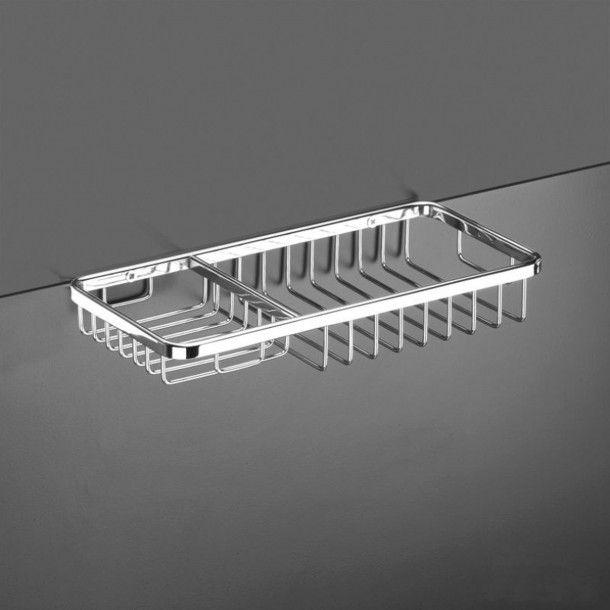Cesto com Saboneteira Retangular Krom 25,5cm