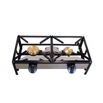 Trempe Dois Queimadores 100/80 - 80x40 cm