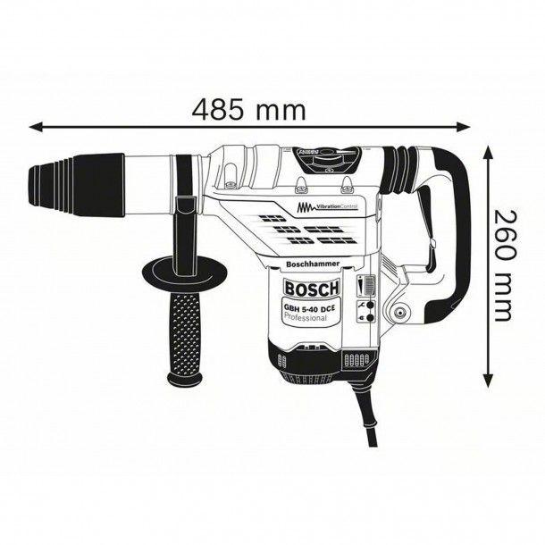 Martelo Perfurador/Demolidor GBH 5-40 DCE Bosch