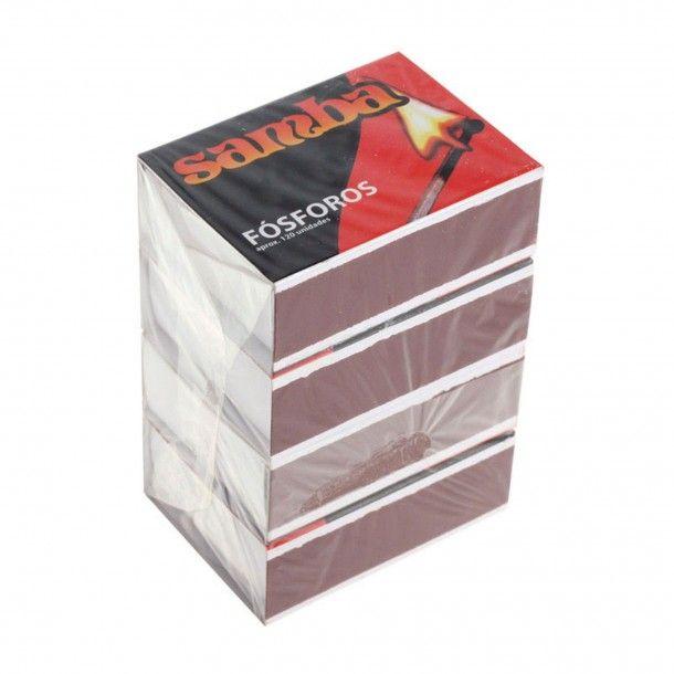 Fósforos Samba 5,5Cm - 4 Caixas