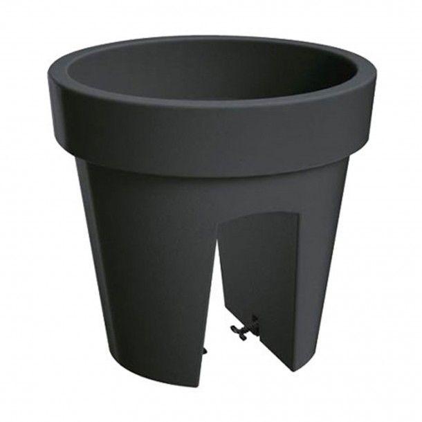 Vaso para Varanda Lofly Bridge Antracite - 25 cm