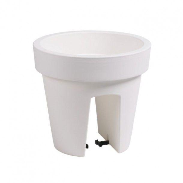 Vaso para Varanda Lofly Bridge Branco - 25 cm