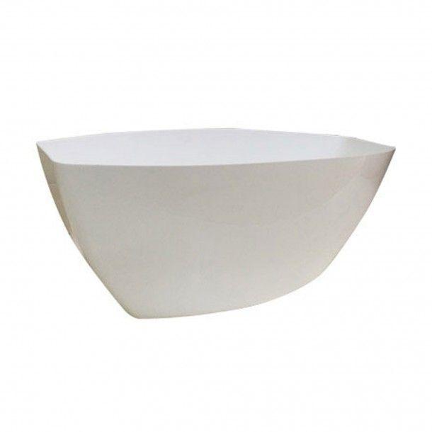 Vaso Taça Plástico Branco - 36 cm