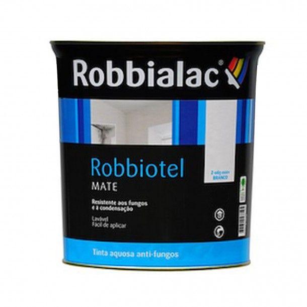 Tinta Robbiotel Mate Aquosa Branco 750ml - Robbialac