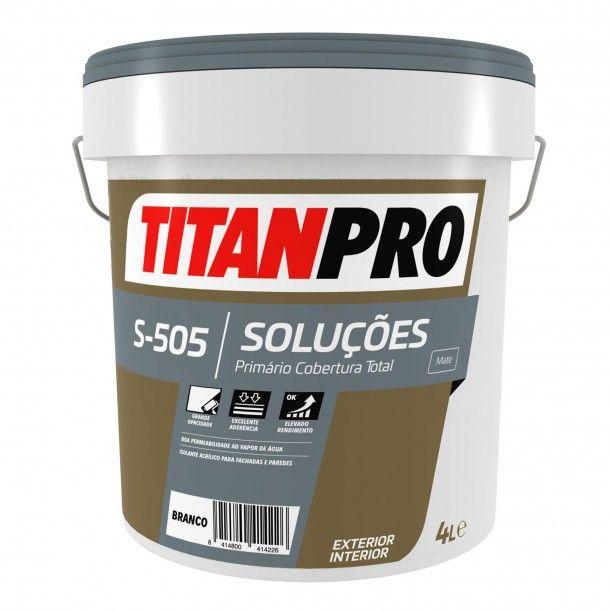 Tinta Primário S505 Branco Mate 4L - Titan Pro