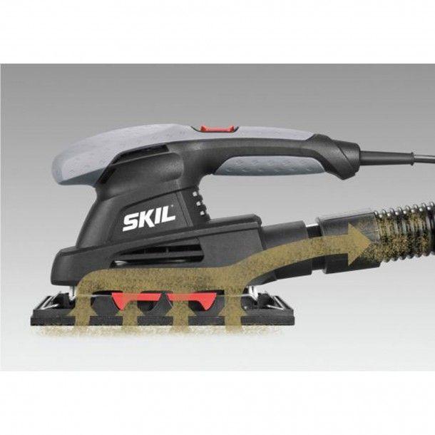Lixadora Vibratória 160W - 7338 AA Skil Black