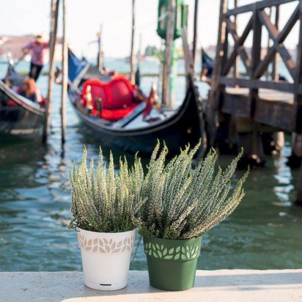 Vaso Plástico com Depósito de Água Terracota Ø 30 cm