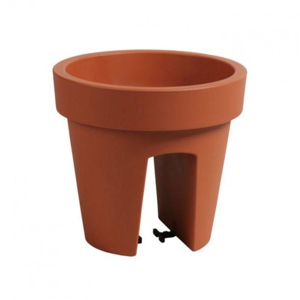 Vaso para Varanda Lofly Bridge Terracota - 25 cm
