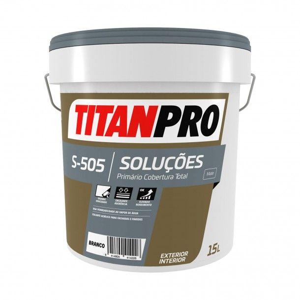 Tinta Primário S505 Branco Mate 15L - Titan Pro