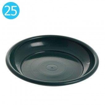 Prato para Vaso de Jardim Verde 25 cm