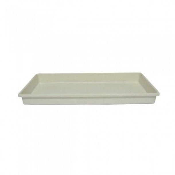 Prato Branco para Floreira Retangular - 40 cm