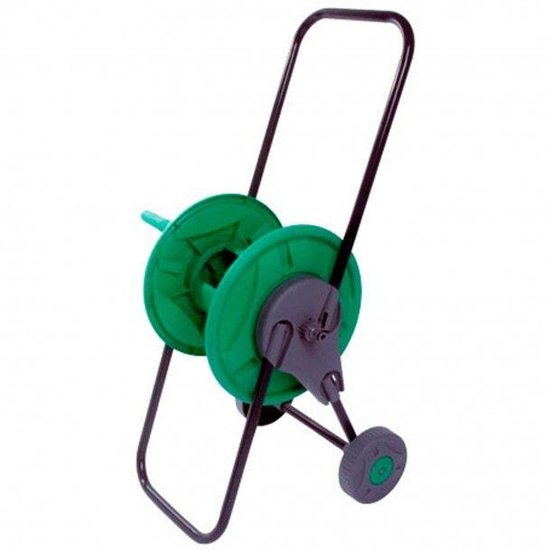 Carro Enrolador Mangueira Plástico/Alumínio com Rodas