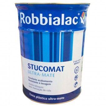 Tinta Stucomat Ultra-Mate Branco - 5L Robbialac