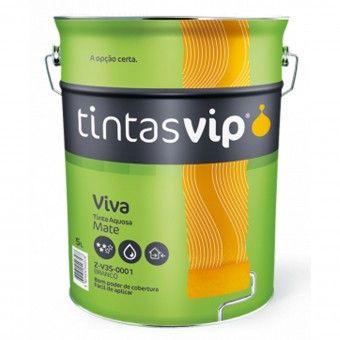 Viva Tinta Plástica Mate Branca V35 1L - Vip