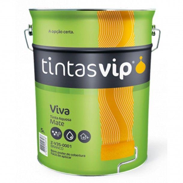 Viva Tinta Plástica Mate Branca V35 5L - Vip