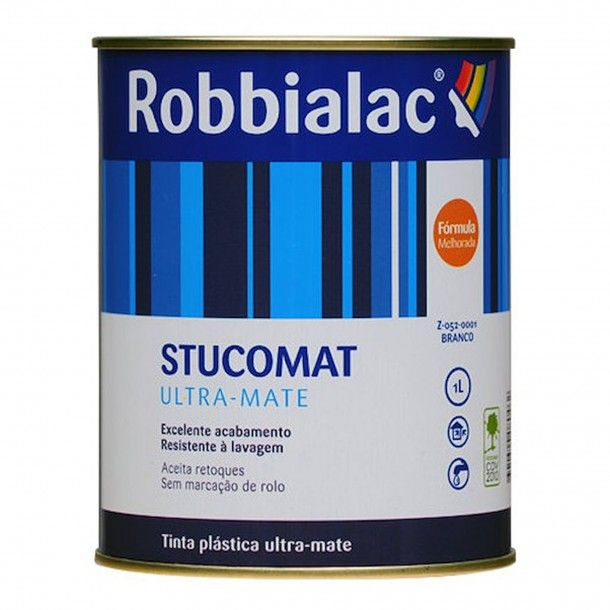 Stucomat Ultra-Mate Branco 1L - Robbialac