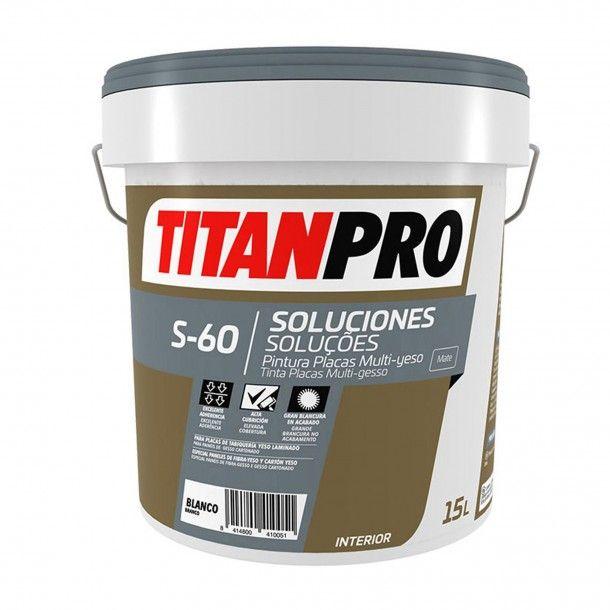 Tinta Plas Multi-Gesso S60 Branco Mate 15L - Titan Pro