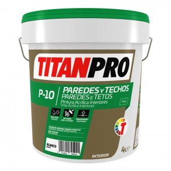 Tinta Acrílica P10 Branco Mate 4 Ltr - Titan Pro