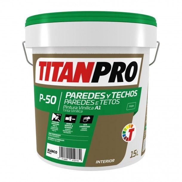 Tinta Vinílica P50 Branco 15L - Titan