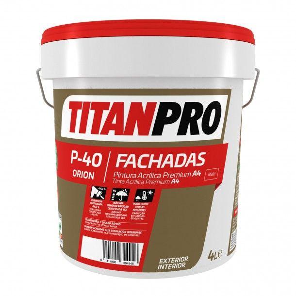 Tinta Acrílica P40 Base Neutra Mate - Titan Pro