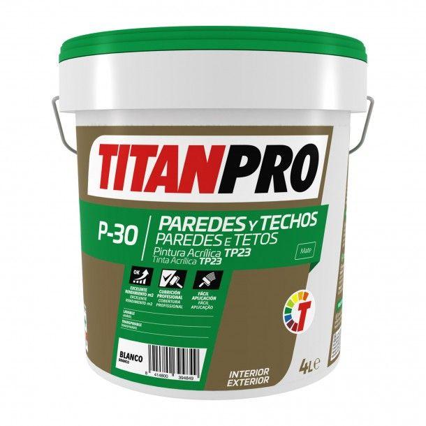 Tinta Acrílica P30 Branco - Titan Pro
