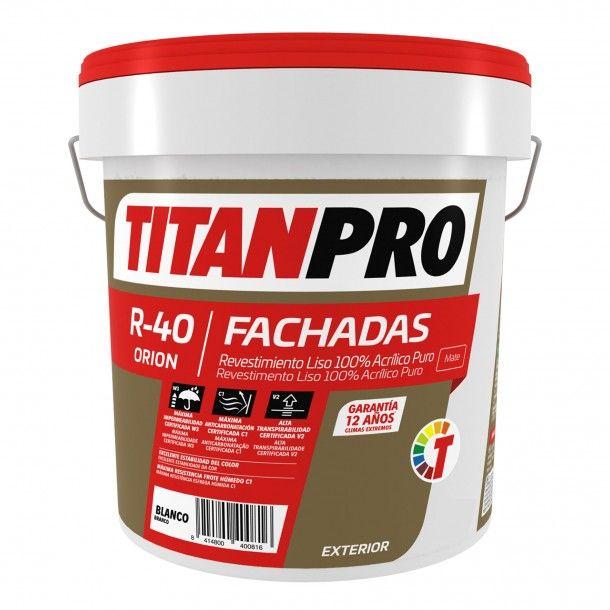 Revestimento R40 100% Acrílico Branco 4L - Titan Pro