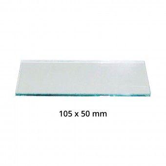 2 Vidros Máscara Soldar Transparente - 105x50 mm