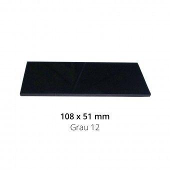 2 Vidros Máscara Soldar Preto - 108x51 Grau 12
