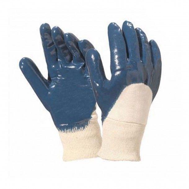 Luvas Nitrilo Azul com Punho Malha - Tamanho 9