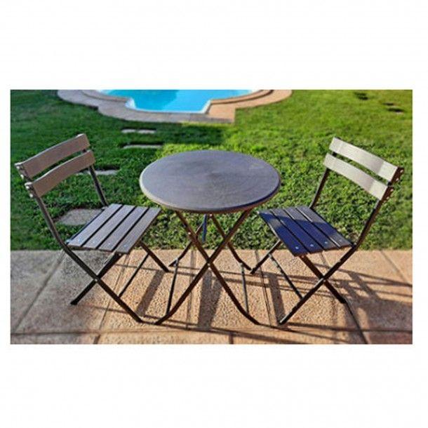Conjunto Mesa e 2 Cadeiras Jardim