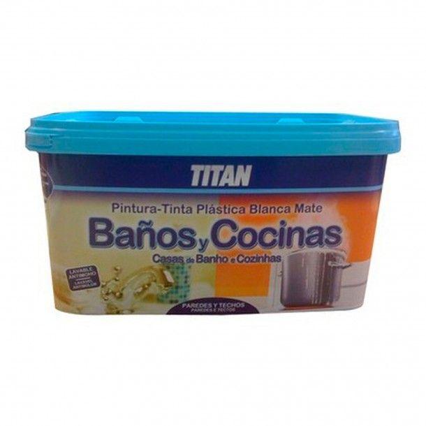 Tinta Plástica Banhos e Cozinhas Branco 0,75ml - Titan