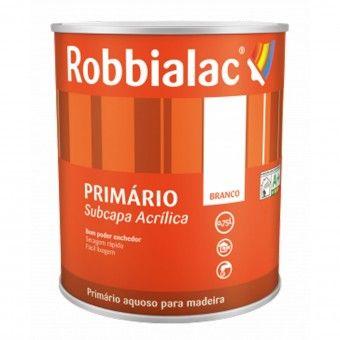 Primário Subcapa Acrílica Branco 750ml - Robbialac
