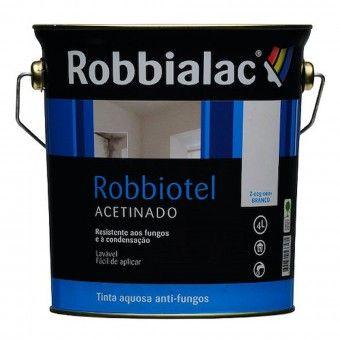 Tinta Robbiotel Acetinada Branco - 4L Robbialac