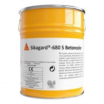 Revestimento 680S Betoncolor Preto 5L - Sikagard