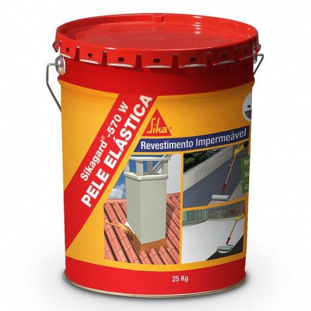 Revestimento Impermeável Elástico Cinza 25Kg -Sikagard