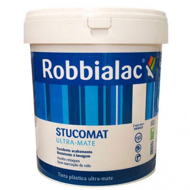 Tinta Stucomat Ultra-Mate Branco 15L - Robbialac