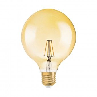 Lâmpada LED Vintage 1906 Globe 125 Gold 4000K Osram