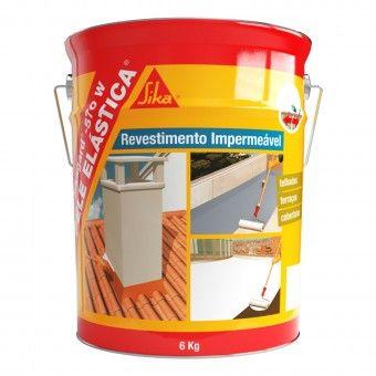 Revestimento Impermeável Elástico Cinza 6Kg - Sikagard