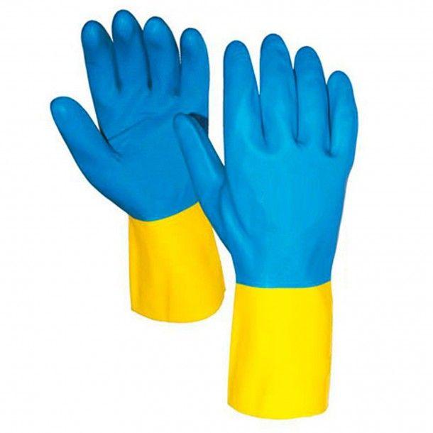 Luvas Proteção Sintética Bicolor - Tamanho 8