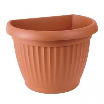 Vaso para Parede de Plástico Terracota - 27 cm