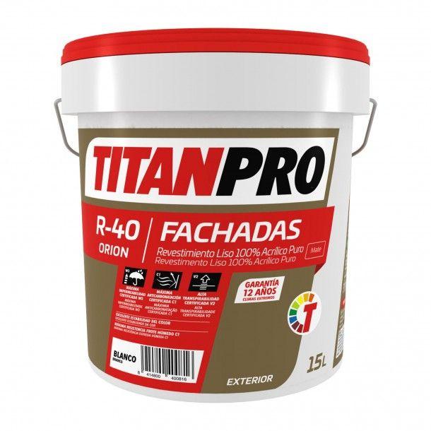Revestimento R40 Acrílico Branco Mate 15L - Titan Pro