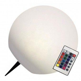 Candeeiro Solar Bola com Comando para Cores