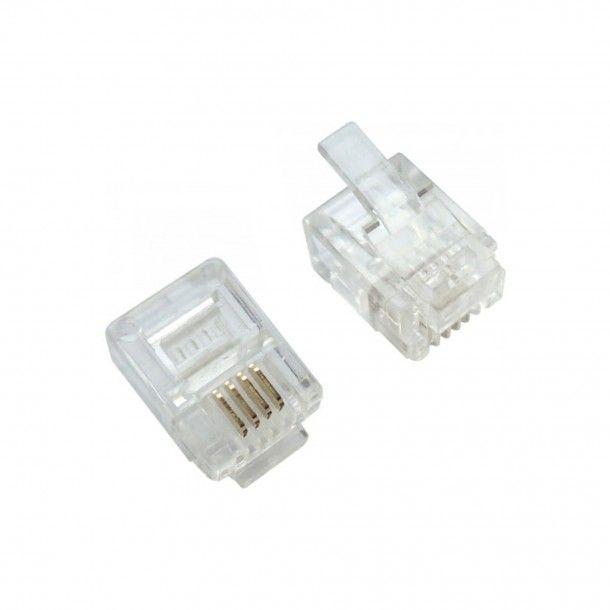 10 Conectores Telefone Modular 6P/4C RJ11