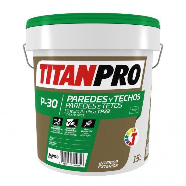 Tinta Acrílica P30 Branco 15L - Titan Pro