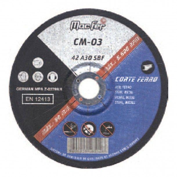 Disco Abrasivo para Corte de Ferro CM-03
