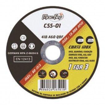Disco Abrasivo para Corte de Inox CSS-01 230mm