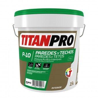 Tinta Acrílica P10 Branco Mate 15L - Titan Pro
