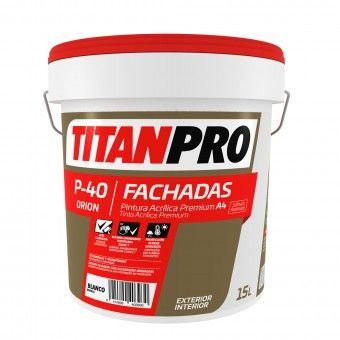 Tinta Acrílica P40 Branco Mate 15L - Titan Pro